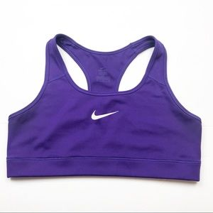 Nike Victory Racerback Purple Sports Bra M